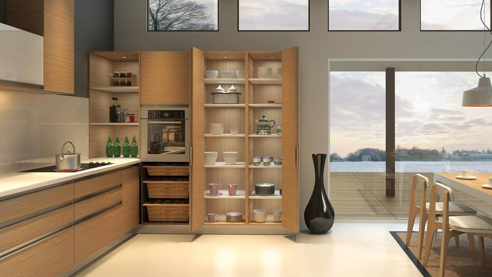 Fitting system for kitchens