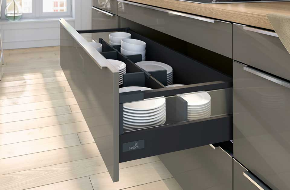 Double walled drawer system